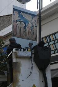 Πάτρα - Στον πεζόδρομο της Ρήγα Φεραίου έργα τέχνης σημαντικών Ελλήνων και φιλελλήνων ζωγράφων με θέμα την επανάσταση του '21 (φωτο)