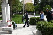 Πάτρα: Ο Κώστας Πελετίδης κατέθεσε στεφάνι στην πλατεία Εθνικής Αντίστασης για την Πρωτομαγιά (φωτο)