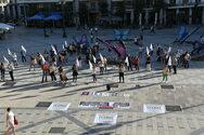 Πάτρα: Η δημοτική Αρχή συμμετείχε στην κινητοποίηση των εικαστικών στην πλατεία Γεωργίου (φωτο)