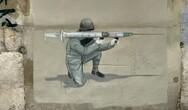 Escif: Τοιχογραφία για τον εμβολιασμό κατά του κορωνοϊού