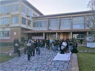 Πάτρα - Κινητοποίηση φοιτητών στην Πρυτανεία του Πανεπιστημίου