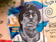 'Άρωμα' Αργεντινής στη Γερμανού - Ο 'Θεός της μπάλας' μέσα από ένα όμορφο γκράφιτι