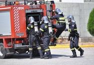 Στις φλόγες παράπηγμα στην Πατρών-Πύργου - Εξερράγη φιάλη υγραερίου