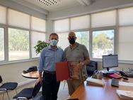 Στο εργοστάσιο ΤΙΤΑΝ Α.Ε ο Αντιπεριφερειάρχης Π.Ε. Αχαΐας και υπεύθυνος για θέματα υγείας Χαράλαμπος Μπονάνος