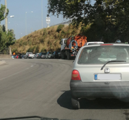 'Ουρές' χιλιομέτρων στην εθνική οδό από τα οχήματα εξαιτίας της φωτιάς (φωτο)