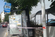 Πάτρα: Αστικό λεωφορείο έπεσε σε στάση στην Αγ. Ανδρέου