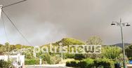 Δραματική η κατάσταση με την φωτιά στην Ηλεία - Εκκενώνεται η Αρχαία Ολυμπία (φωτο)