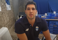 O Φουντούλης σημαιοφόρος στην τελετή λήξης των Ολυμπιακών Αγώνων