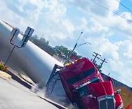 Τρένο συγκρούστηκε με πτερύγιο ανεμογεννήτριας (video)