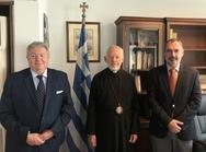 Συνάντηση του Υφυπουργού Εξωτερικών, Ανδρέα Κατσανιώτη, με τον Σεβασμιώτατο Αρχιεπίσκοπο Καναδά, κ. Σωτήριο