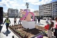 Συνθέσεις στο κέντρο της Πάτρας στο πλαίσιο των δράσεων για την ενημέρωση και την πρόληψη του καρκίνου (φωτο)