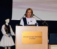 Η Μαρίνα Δούρου συμμετείχε στην εκδήλωση του Αρχαιολογικού Μουσείου Πάτρας με θέμα τη Φουστανέλα