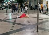 Πάτρα: Σάββατο βράδυ... και κάποιος κοιμάται στον πεζόδρομο της Γεροκωστοπούλου (φωτο)