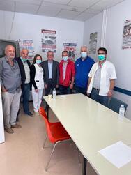 Πάτρα: Επίσκεψη Αντώνη Κουνάβη στο ΠΓΝΠ (φωτο)