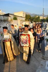 Πάτρα: Περιφορά της Ιεράς Εικόνος του Αγ. Λαζάρου στο Κοιμητήριο Αλεξιώτισσας