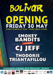 Opening Fiesta @ Bolivar Beach Bar - (Smokey Bandits (Live band) - CJ Jeff - Thedoris Triantafillou)
