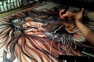 Ζωγραφίζοντας βήμα-βήμα από το κενό χαρτί, σε μια λεπτομερή και εντυπωσιακή ζωγραφιά (pics+video)