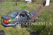 Ηλεία: Σφοδρή πρόσκρουση Ι.Χ. σε κολόνα στο Κουζούλι (pics)