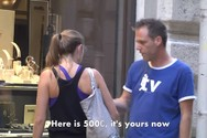 Ο Rémi Gaillard ξαναχτυπά μοιράζοντας αληθινά 500ευρα (video)