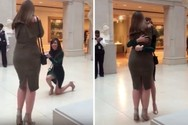 Γυναίκα έκανε πρόταση γάμου στη φίλη της και έγινε... viral (pic+video)