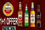 Amstel 1+1 Offer at More Steps Naja