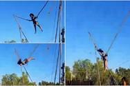 Η Ναταλία Δραγούμη κάνει τραμπολίνο σε παραλία της Αχαΐας! (video)