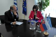 Πάτρα: Συνάντηση με τον Περιφερειάρχη πραγματοποίησε η Πρέσβης της Σλοβακίας