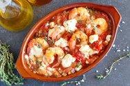 Μαγειρέψτε γαρίδες σαγανάκι με φέτα