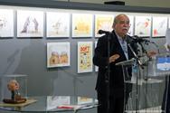 Ο Πρόεδρος της Βουλής εγκαινίασε την ετήσια έκθεση γελοιογραφίας