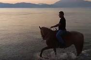 Βόλτα στην παραλία με τα άλογα, από τον Άγιο Βασίλη έως το Ρίο (video)