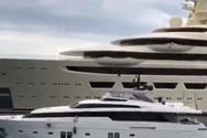 Το γιοτ του εκατομμυριούχου και του... δισεκατομμυριούχου (video)