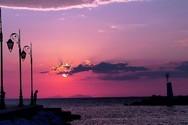 Μια απίθανη παλέτα ο ουρανός της Πάτρας!