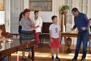 Πάτρα: Τον Δήμαρχο επισκέφθηκαν οι μαθητές του 4ου Δημοτικού Σχολείου (φωτο)