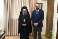 Πάτρα: Ο Νεκτάριος Φαρμάκης επισκέφθηκε τον Μητροπολίτη Χρυσόστομο