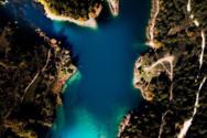 Η λίμνη Τσιβλού από ψηλά