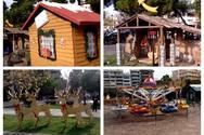 Η Χριστουγεννιάτικη πλατεία των Υψηλών Αλωνίων εντυπωσιάζει (video)