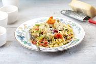 Ταλιατέλες με κοτόπουλο και πικάντικη κρέμα λαχανικών