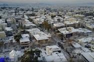 Η χιονισμένη Κηφισιά από ψηλά (video)