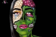 Η Πατρινή Ηλιάννα Βαλσαμάκη έγινε... comic zombie - Η νέα μεταμόρφωσή της (video)