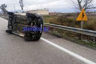 Δυτική Ελλάδα: Φορτηγάκι ανετράπη στην Αντιρρίου - Ιωαννίνων (φωτο)