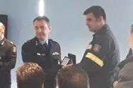 Πάτρα: Τιμήθηκε ο εθελοντής Πυροσβέστης Δημήτρης Αθανασόπουλος