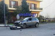Αγρίνιο - Τροχαίο με σύγκρουση δύο αυτοκινήτων (φωτο)