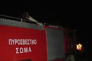 Στις φλόγες τυλίχτηκε Ι.Χ στην παλαιά Εθνική οδό Πατρών - Κορίνθου