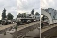 Μεταφέροντας έναν γιγαντιαίο μετασχηματιστή (video)