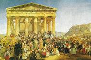 Σαν σήμερα 25 Μαρτίου γιορτάζεται για πρώτη φορά επισήμως, η επέτειος της 25ης Μαρτίου 1821