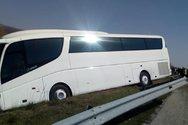 Τροχαίο με τουριστικό λεωφορείο στην Εγνατία στο ύψος της Ξάνθης