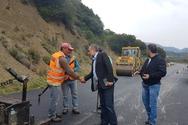 Δυτική Ελλάδα: Στα έργα στην εθνική οδό Βόνιτσας - Λευκάδας ο Περιφερειάρχης Απόστολος Κατσιφάρας (φωτο)