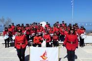 Καταχειροκροτήθηκε η Δημοτική Φιλαρμονική Δερβενίου στην παρέλαση της 25ης Μαρτίου (pics+video)