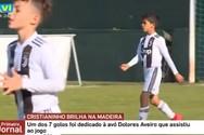 Ο γιος του Cristiano Ronaldo πέτυχε επτά γκολ σε ένα ημίχρονο (video)