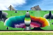Ιταλία - Εντυπωσιάζουν γκράφιτι σε τοίχους νηπιαγωγείου